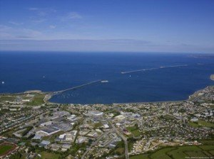 Rade de Cherbourg vue du ciel